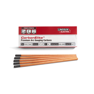 CarbonElite Pointed Gouging Electrodes - 1/2 in. x 14 in.